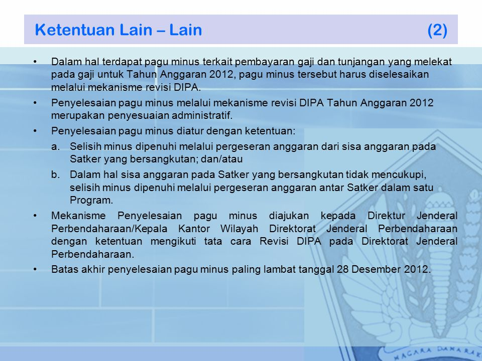 Ketentuan Lain – Lain (2)