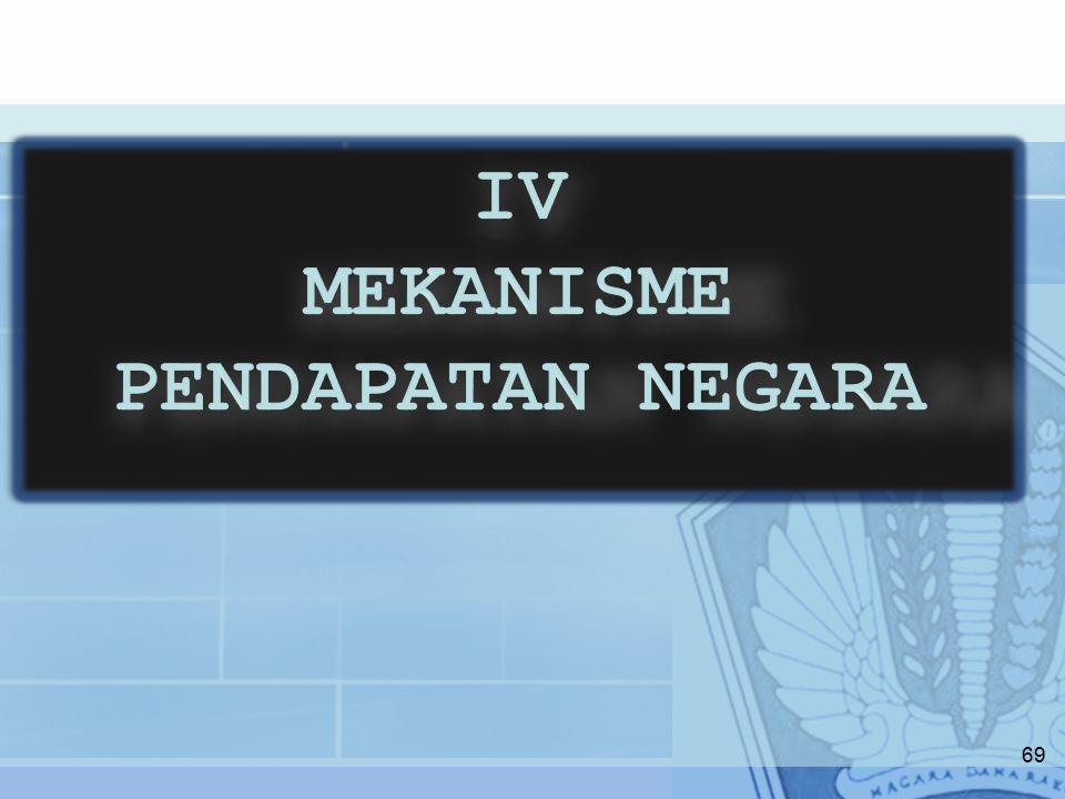IV MEKANISME PENDAPATAN NEGARA
