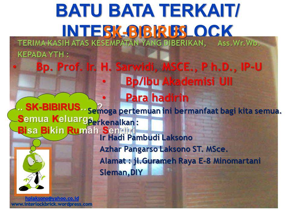 BATU BATA TERKAIT/ INTERLOCK BLOCK