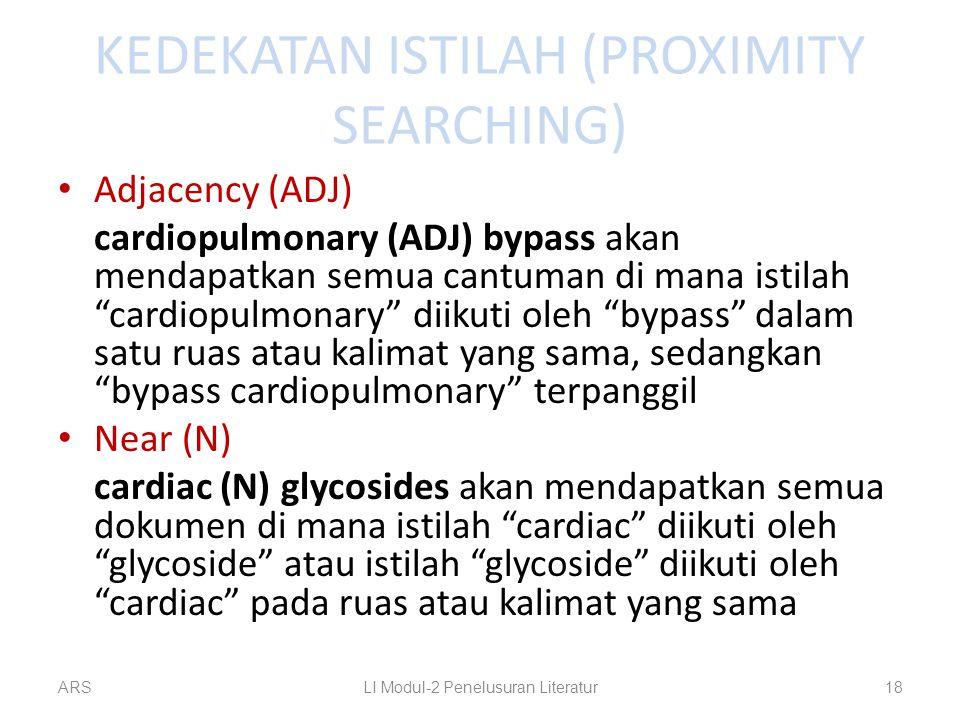 KEDEKATAN ISTILAH (PROXIMITY SEARCHING)