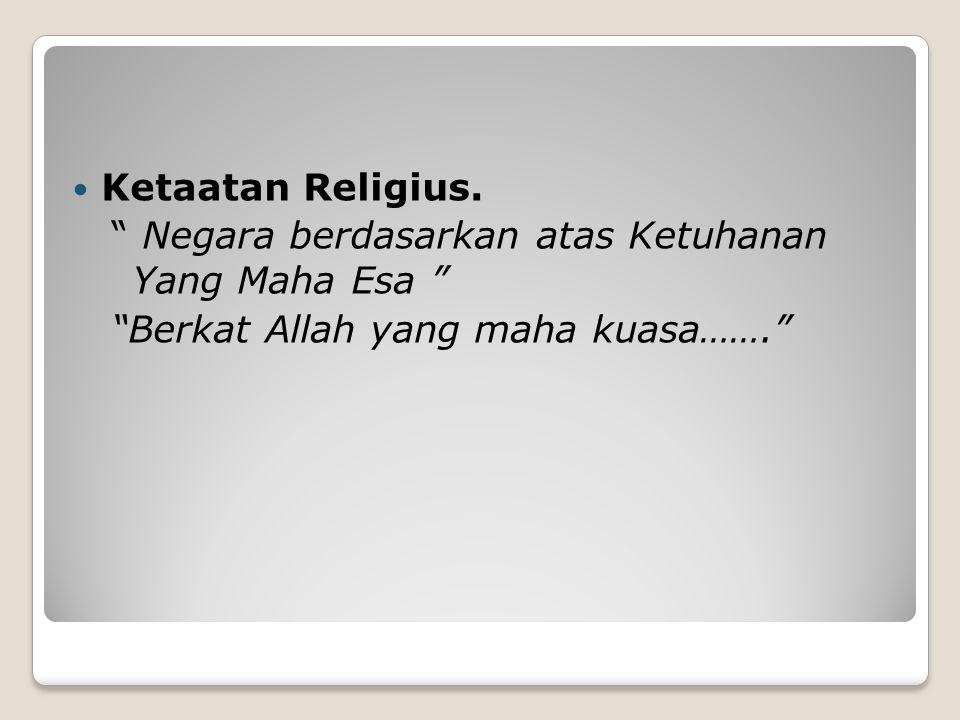 Ketaatan Religius.