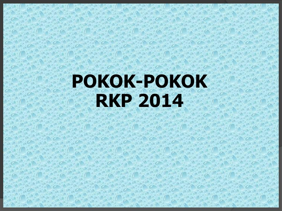 POKOK-POKOK RKP 2014 19