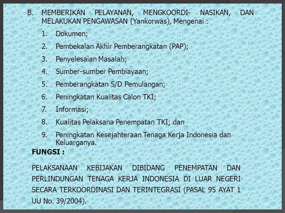 Pembekalan Akhir Pemberangkatan (PAP); Penyelesaian Masalah;