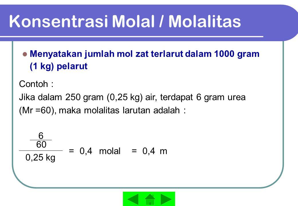 Konsentrasi Molal / Molalitas