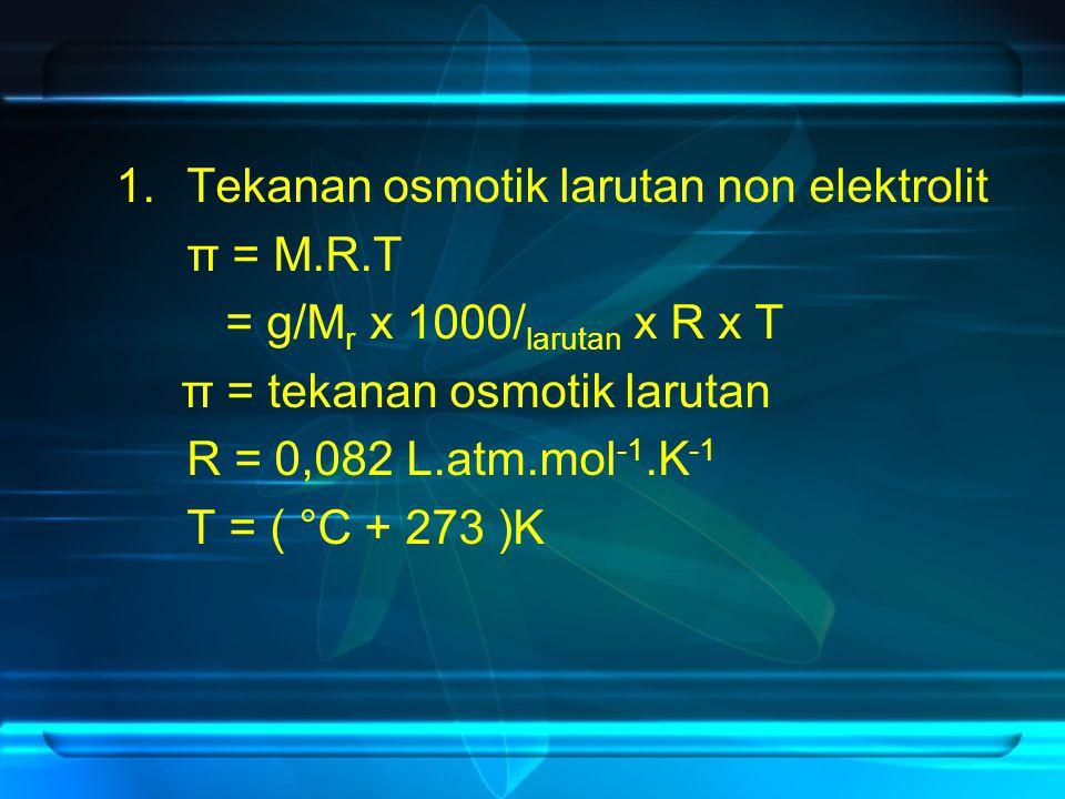 Tekanan osmotik larutan non elektrolit