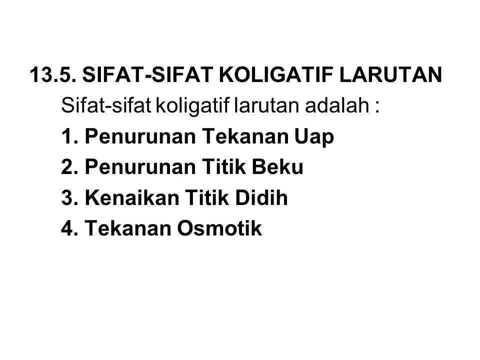 13.5. SIFAT-SIFAT KOLIGATIF LARUTAN