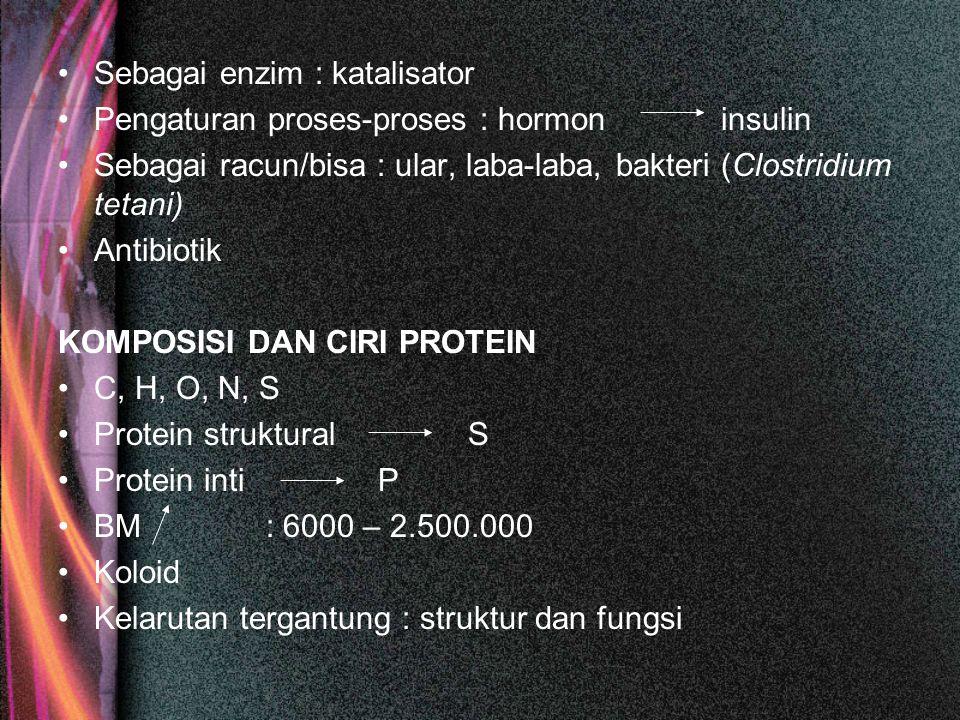 Sebagai enzim : katalisator