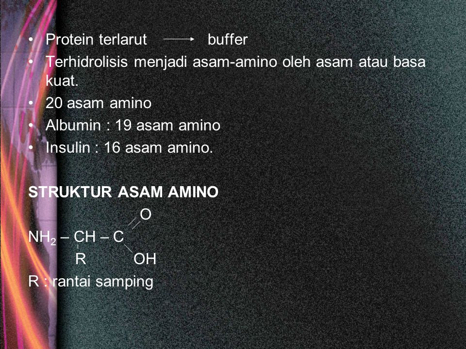 Protein terlarut buffer