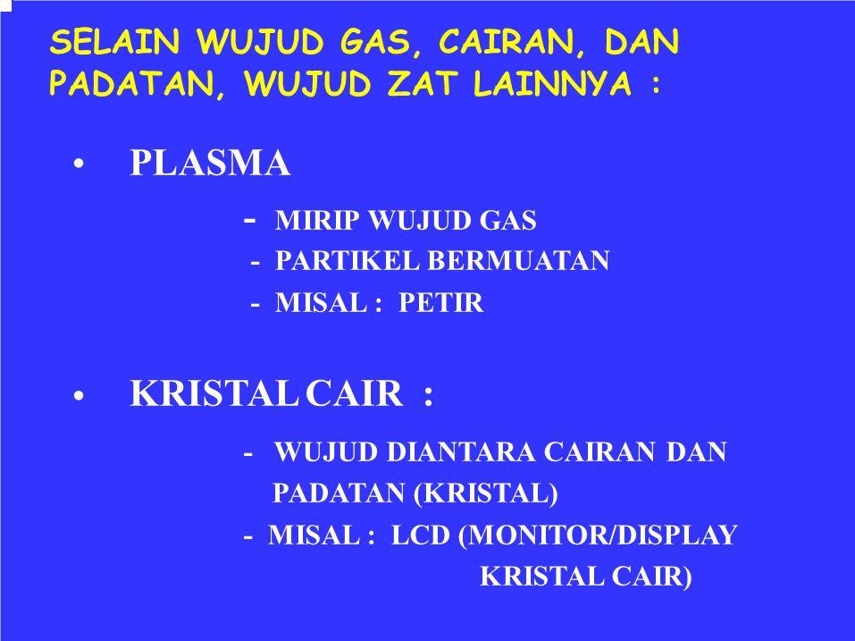 - WUJUD DIANTARA CAIRAN DAN •