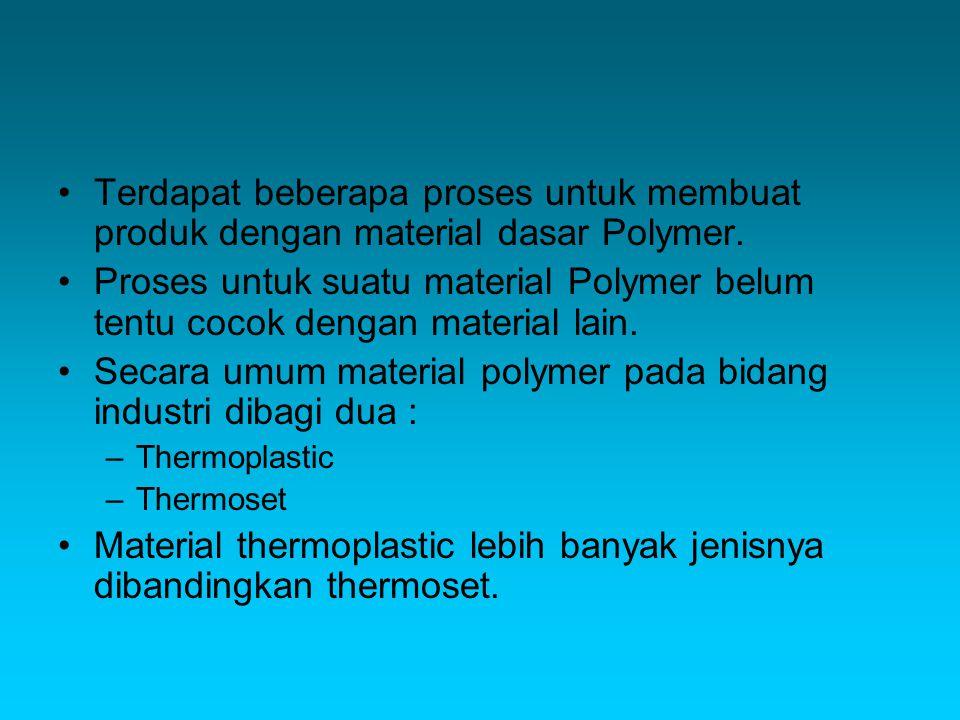 Secara umum material polymer pada bidang industri dibagi dua :