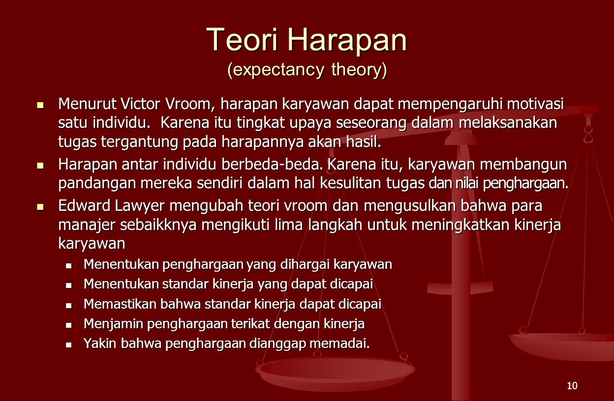 Teori Harapan (expectancy theory)