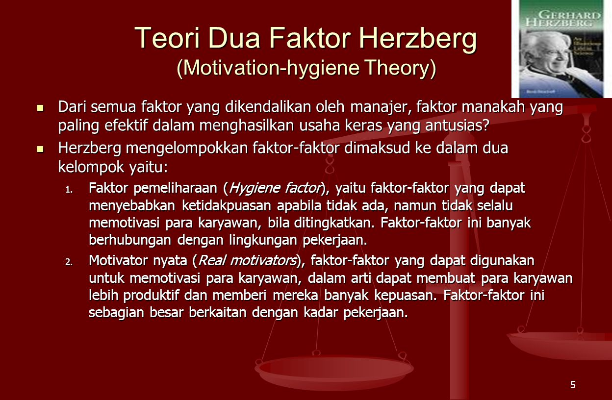 Teori Dua Faktor Herzberg (Motivation-hygiene Theory)