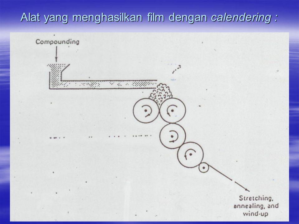 Alat yang menghasilkan film dengan calendering :
