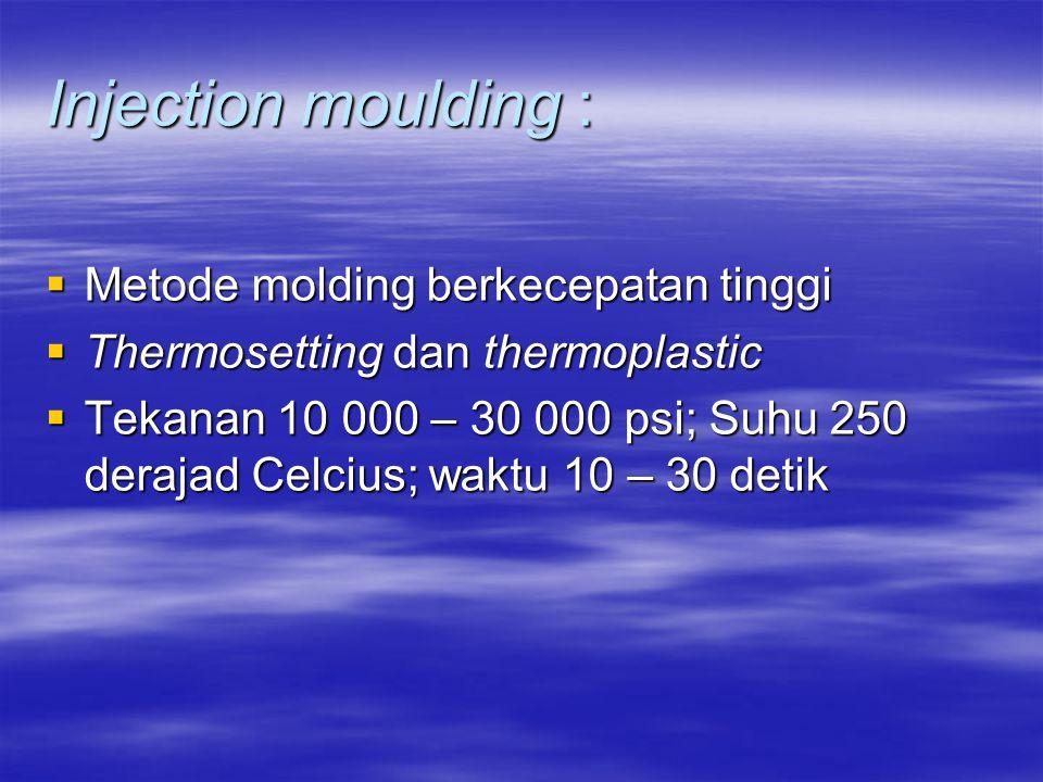 Injection moulding : Metode molding berkecepatan tinggi