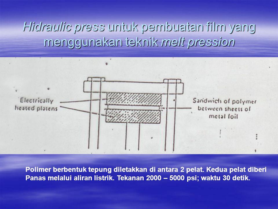 Hidraulic press untuk pembuatan film yang menggunakan teknik melt pression