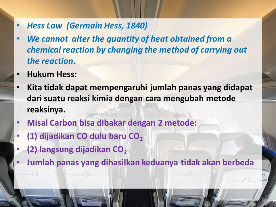 Hess Law (Germain Hess, 1840)