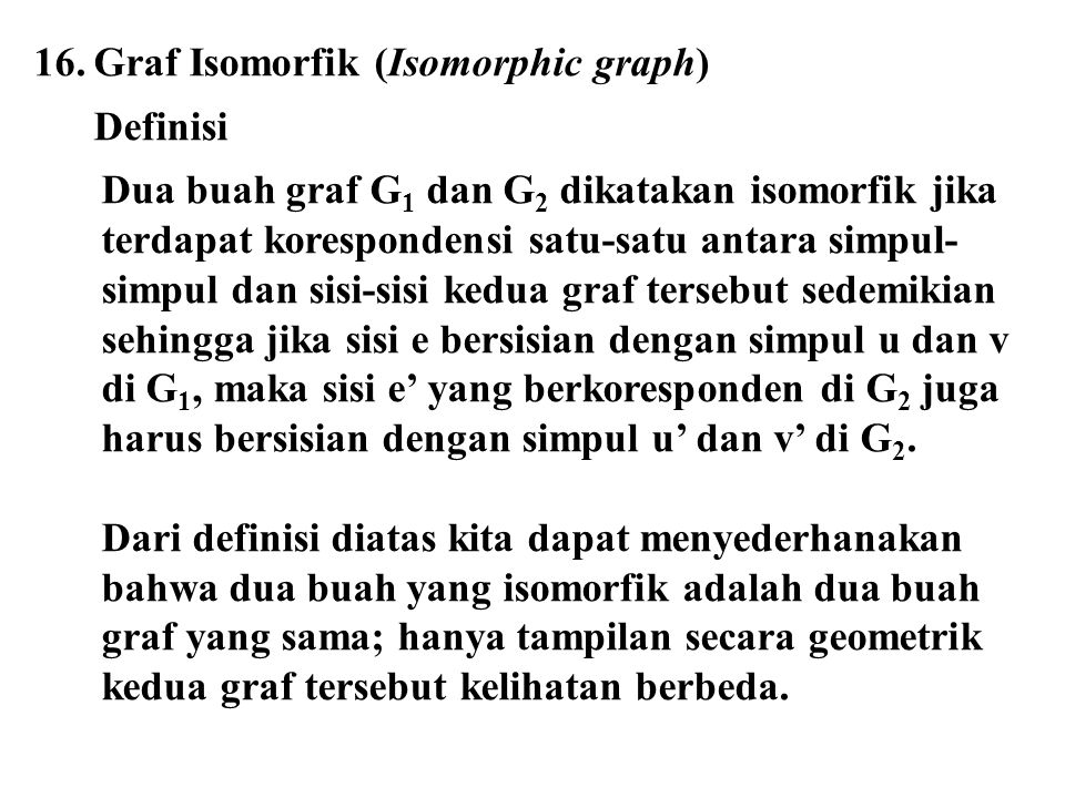 Graf Isomorfik (Isomorphic graph)