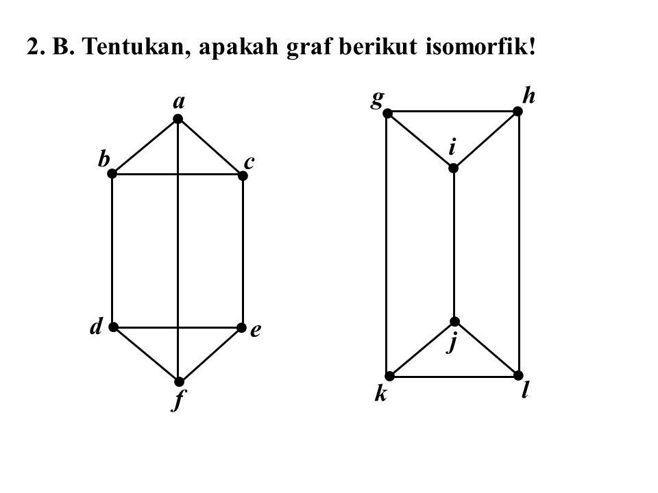 2. B. Tentukan, apakah graf berikut isomorfik!