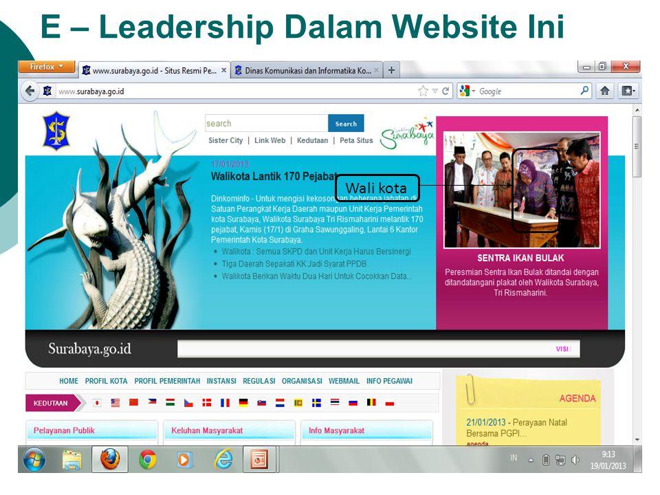 E – Leadership Dalam Website Ini