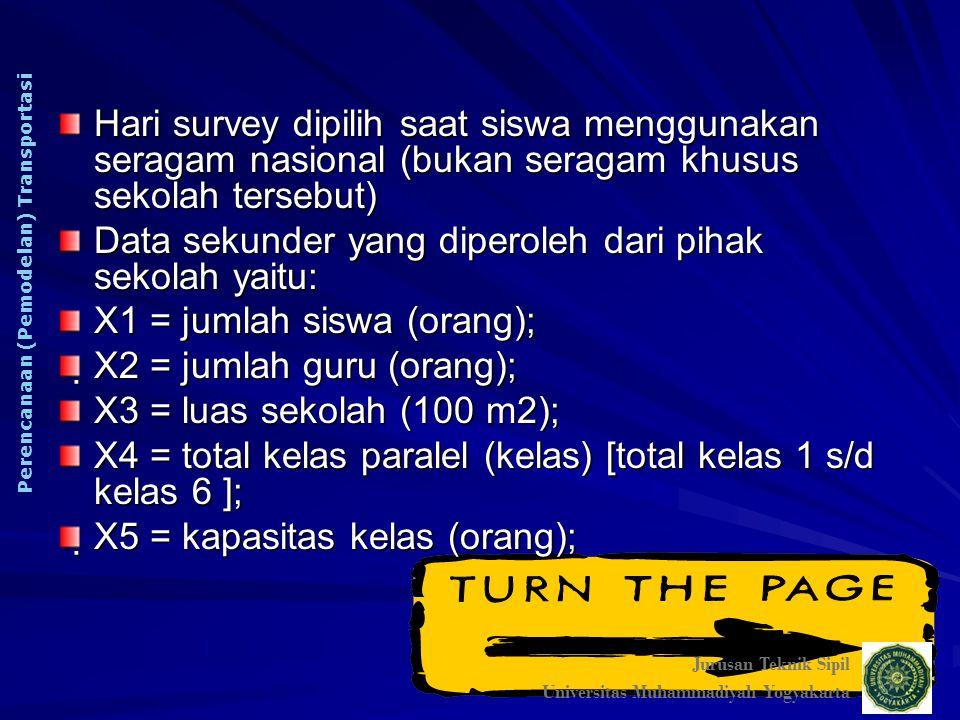 Data sekunder yang diperoleh dari pihak sekolah yaitu: