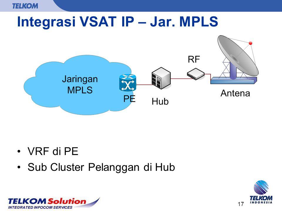 Integrasi VSAT IP – Jar. MPLS
