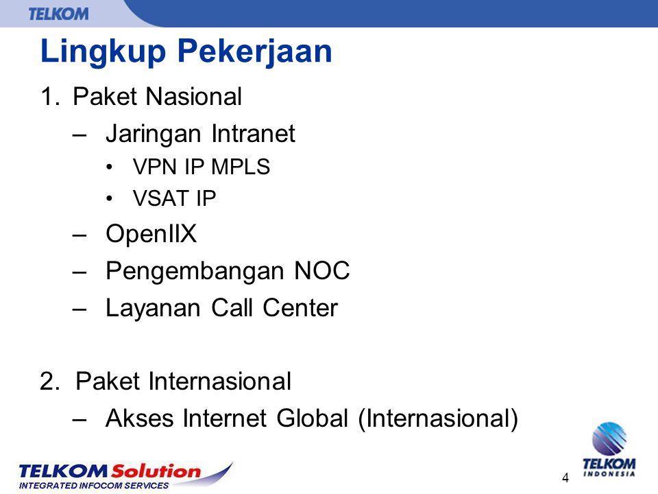 Lingkup Pekerjaan Paket Nasional Jaringan Intranet OpenIIX