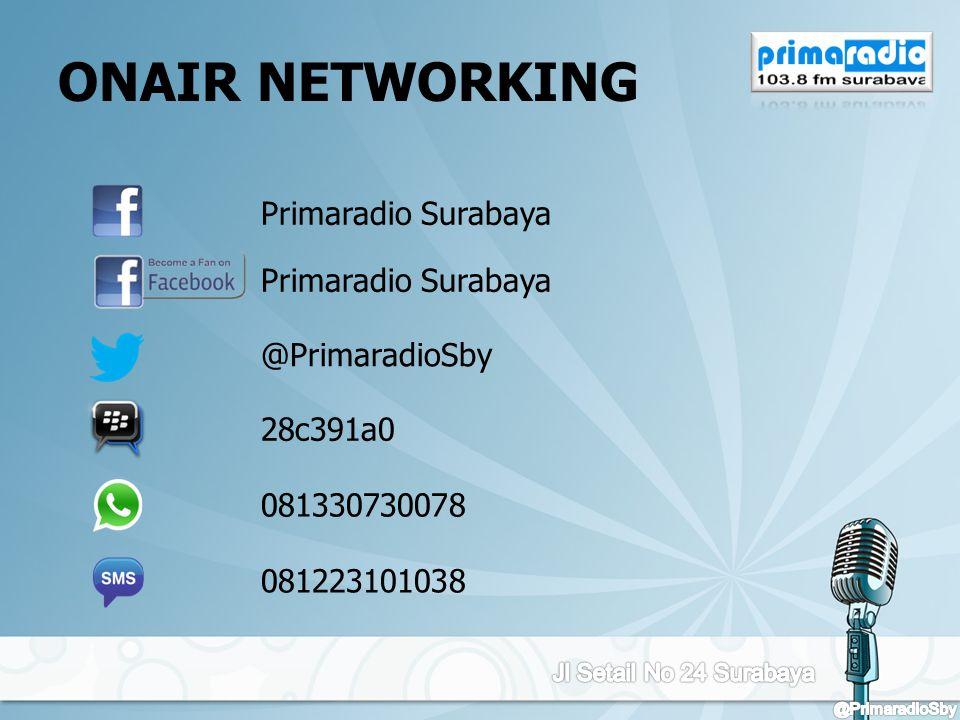 ONAIR NETWORKING Primaradio Surabaya @PrimaradioSby 28c391a0