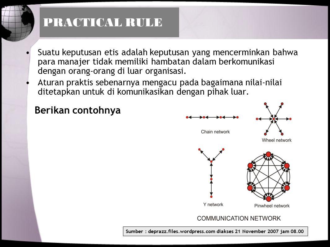 PRACTICAL RULE Berikan contohnya