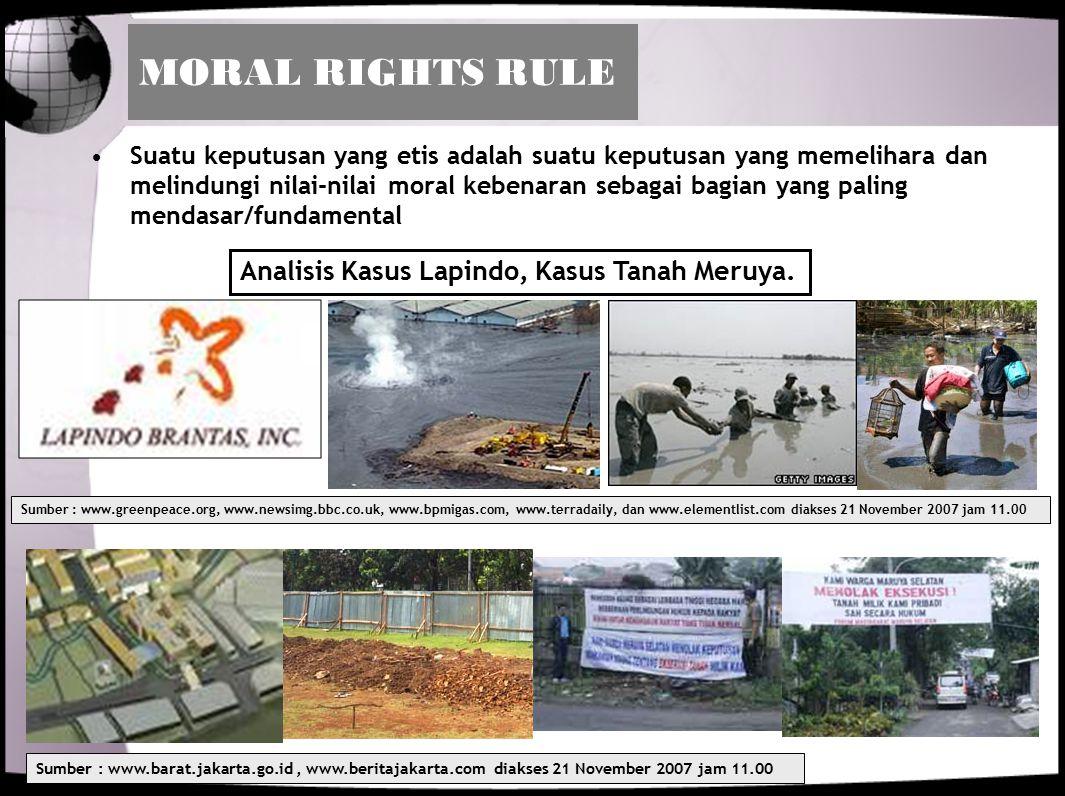MORAL RIGHTS RULE Analisis Kasus Lapindo, Kasus Tanah Meruya.