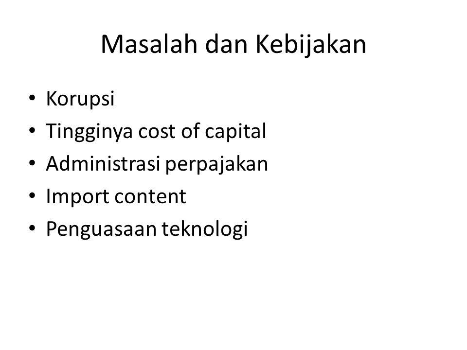 Masalah dan Kebijakan Korupsi Tingginya cost of capital