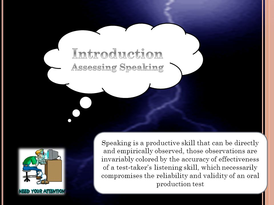 Introduction Assessing Speaking