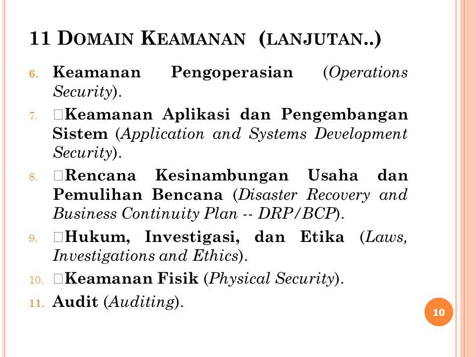 11 Domain Keamanan (lanjutan..)