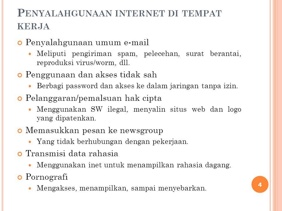 Penyalahgunaan internet di tempat kerja