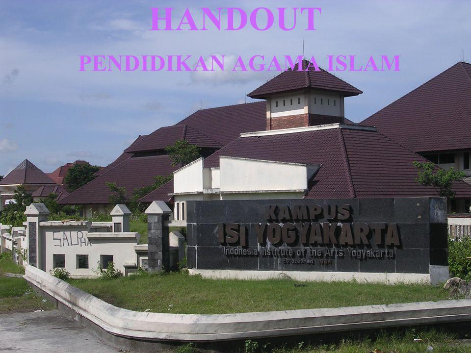 HANDOUT PENDIDIKAN AGAMA ISLAM