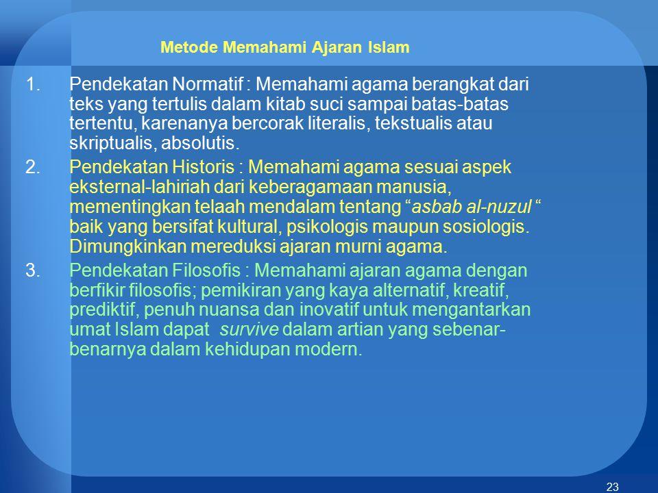 Metode Memahami Ajaran Islam