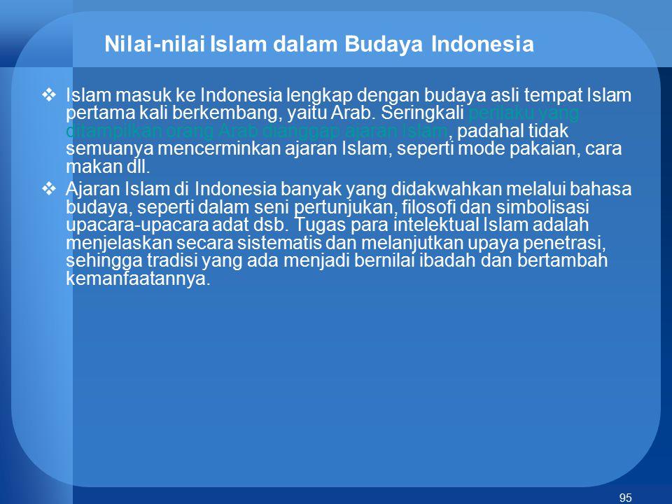 Nilai-nilai Islam dalam Budaya Indonesia