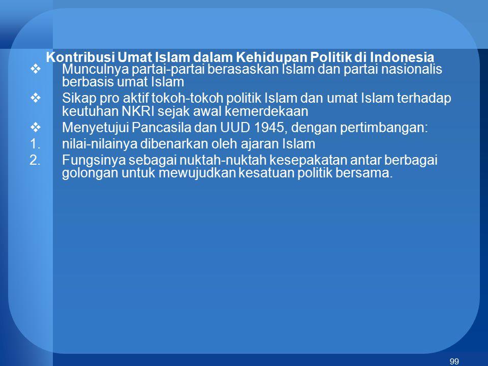Kontribusi Umat Islam dalam Kehidupan Politik di Indonesia