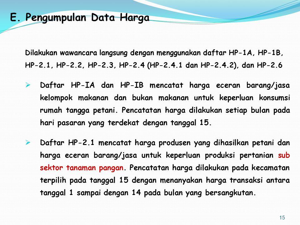 E. Pengumpulan Data Harga