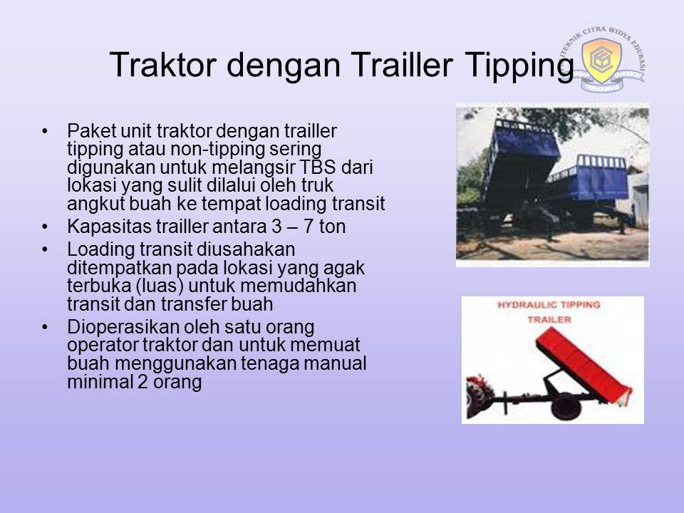 Traktor dengan Trailler Tipping