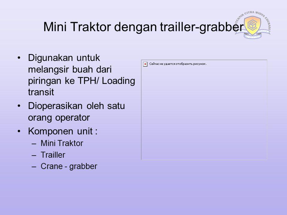 Mini Traktor dengan trailler-grabber