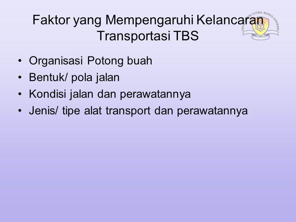 Faktor yang Mempengaruhi Kelancaran Transportasi TBS