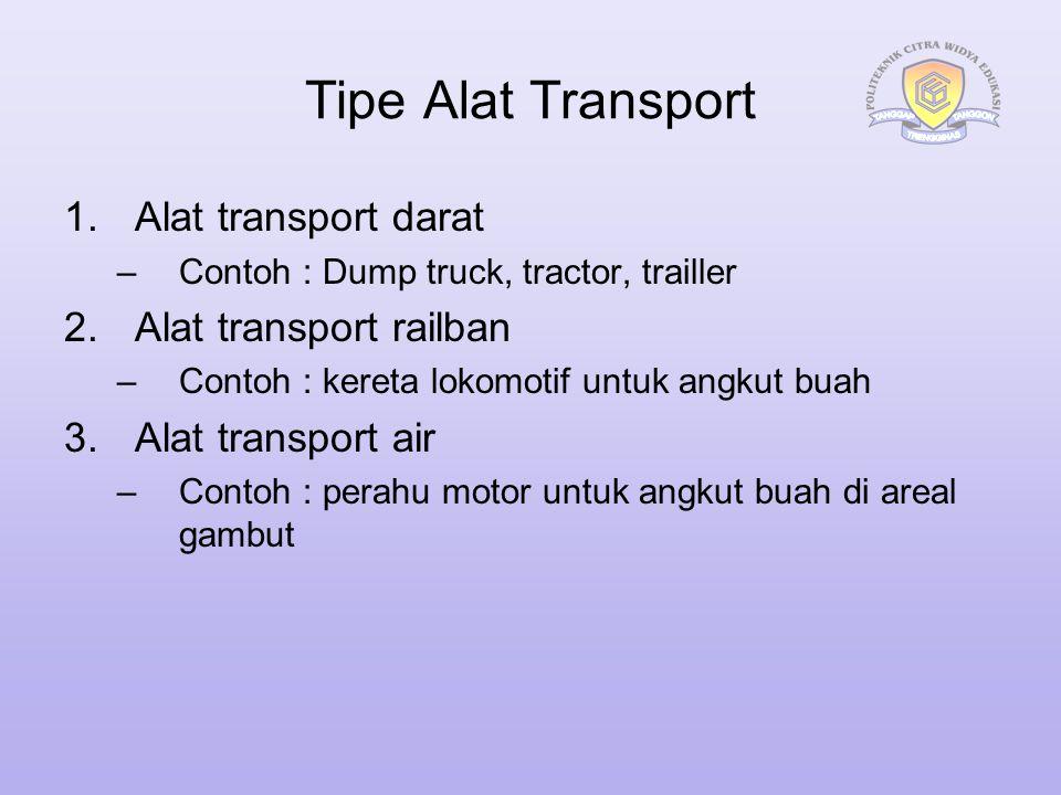 Tipe Alat Transport Alat transport darat Alat transport railban