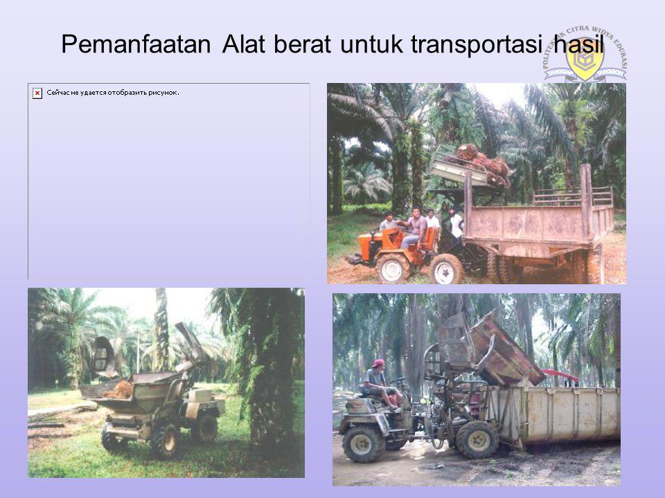 Pemanfaatan Alat berat untuk transportasi hasil