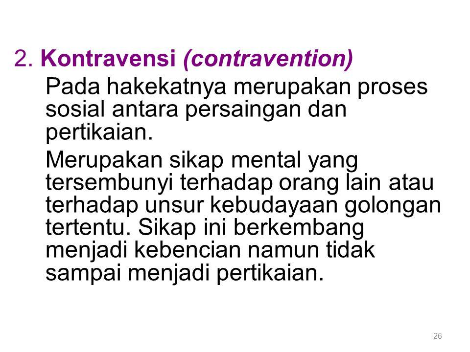 2. Kontravensi (contravention)