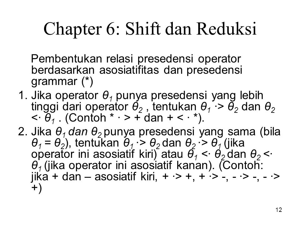 Chapter 6: Shift dan Reduksi