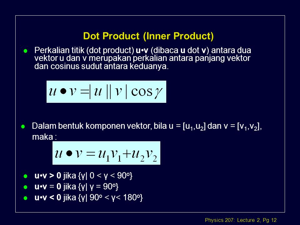 Dot Product (Inner Product)