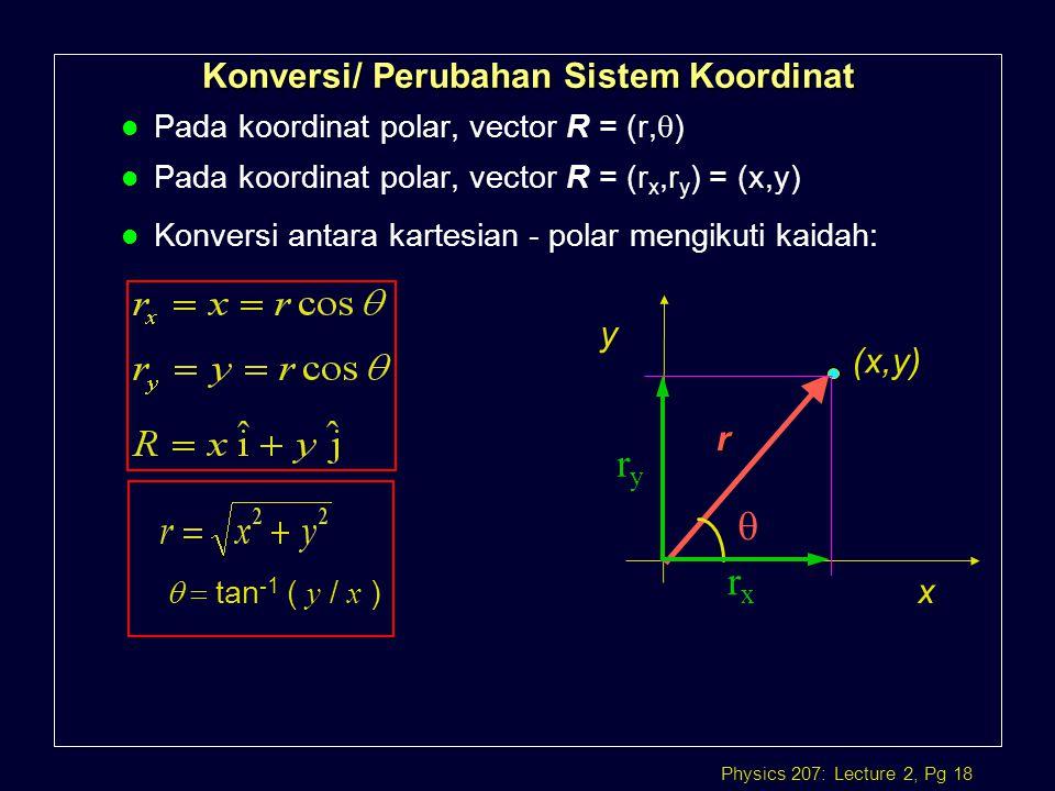 Konversi/ Perubahan Sistem Koordinat