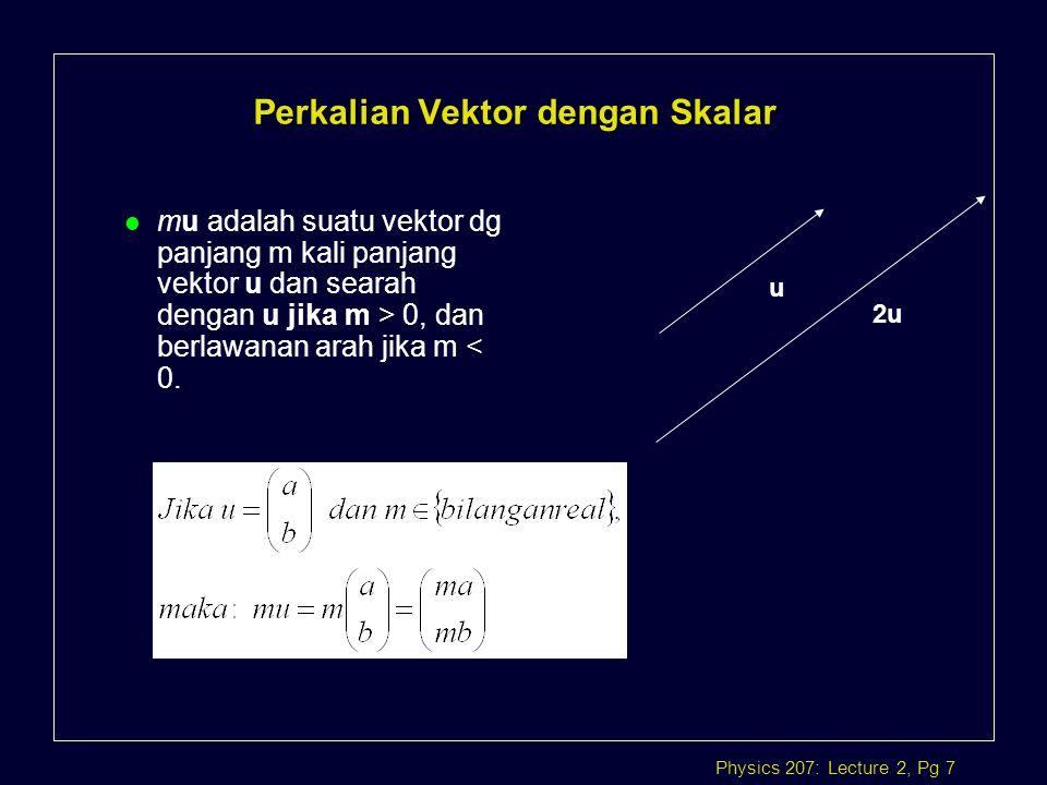 Perkalian Vektor dengan Skalar