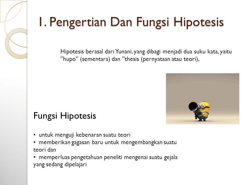 1. Pengertian Dan Fungsi Hipotesis