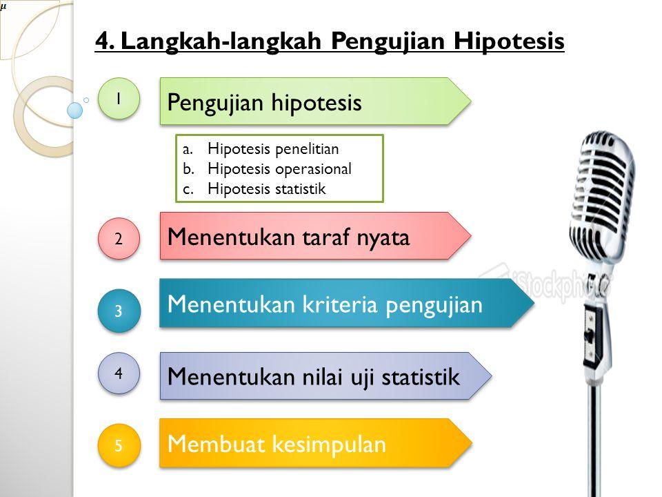 4. Langkah-langkah Pengujian Hipotesis
